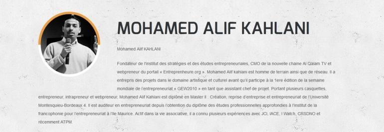 mohamed alif kahlani entrepreneur tunisie MINA region GCC