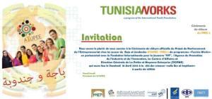 La cérémonie de clôture du projet PREJ 2 (deuxième phase du projet de renforcement de l'entrepreneuriat chez les jeunes dans les gouvernorats de Béja et de Jendouba)